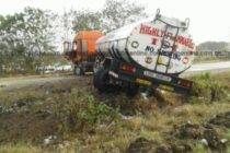 Fuel tanker blocks part of Tema Motorway [Photos]