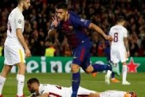 Two own goals and a Suarez strike give Barcelona the advantage
