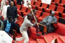 Armed men storm Nigeria's senate, stealing mace