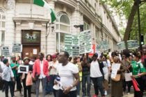 "Nigeria protests ""killing of black people in London"""