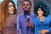 Ernest Opoku's pregnant girlfriend canes him on live radio show (Video)