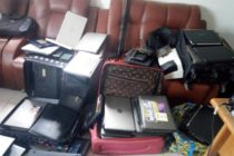 Kasoa: 101 internet fraudsters busted; wee, one gun, 126 laptops retrieved