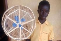 15-year-old Ghanaian makes electricity-powered wooden standing fan