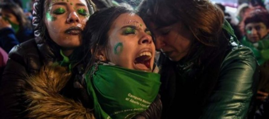 Legal abortion bill rejected in Argentina