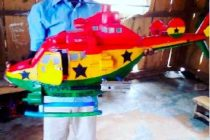 18-year-old Ghanian boy develops helicopters, 'aboboya' using plastic waste materials