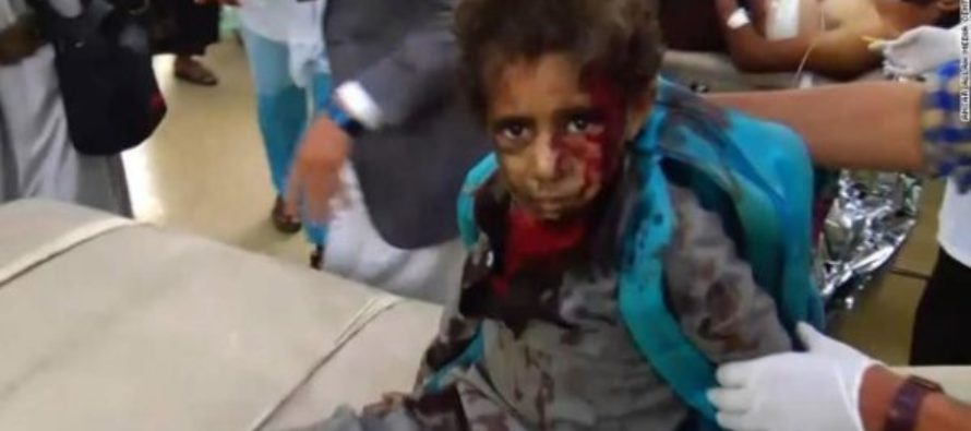 Dozens dead after school bus carrying children hit by airstrike