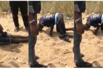 Man walks with head after taking tramadol