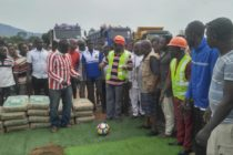 Energy Minister cuts sod for the construction of Hohoe sports stadium