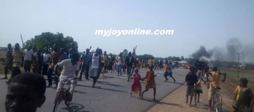 Angry NPP youth on rampage; burn billboards over MMDCE nominations