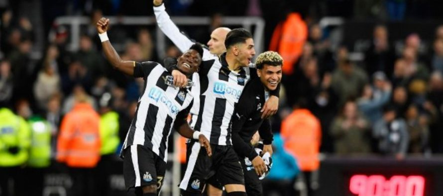 Christian Atsu on target as Newcastle romp back to Premier League