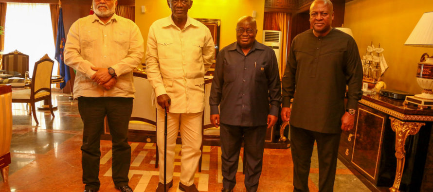 Akufo-Addo confers with ex-Presidents at Flagstaff House