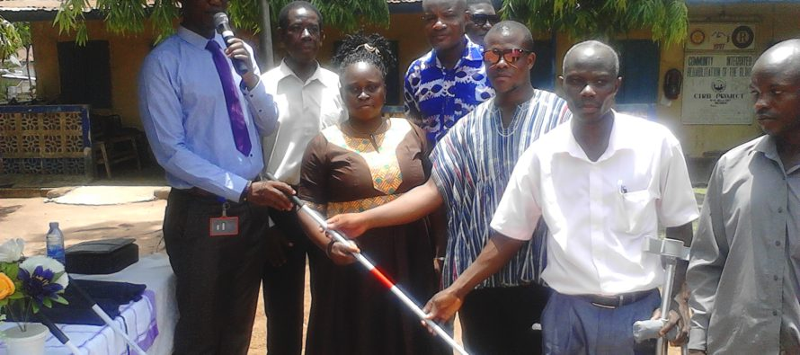 Bank of Ghana donates white canes to Ghana Blind Union, Hohoe Chapter