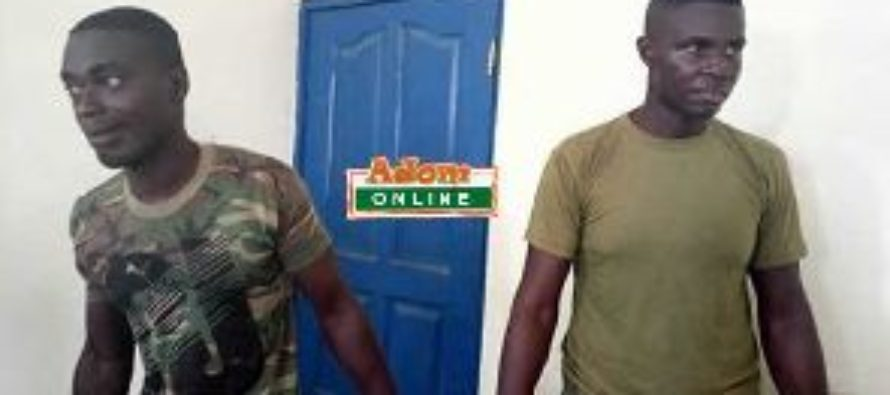 Two fake soldiers arrested