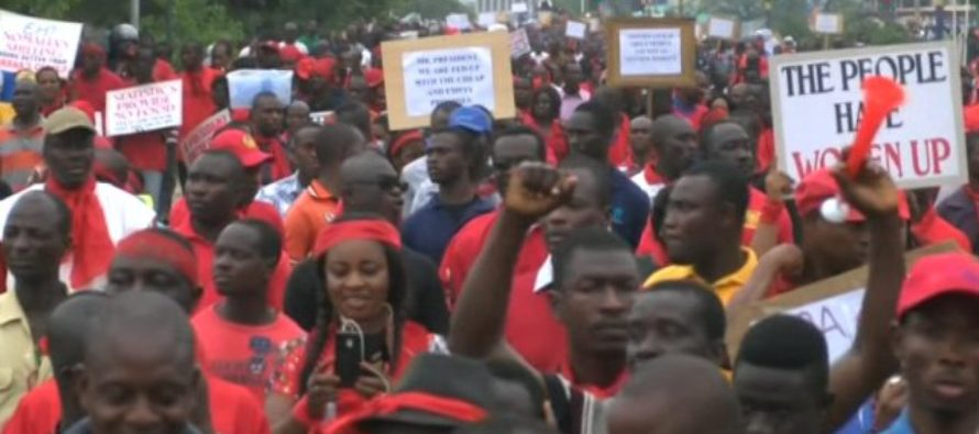 PHOTOS: Adom FMs 'Fabɛwoso' demo underway in Accra
