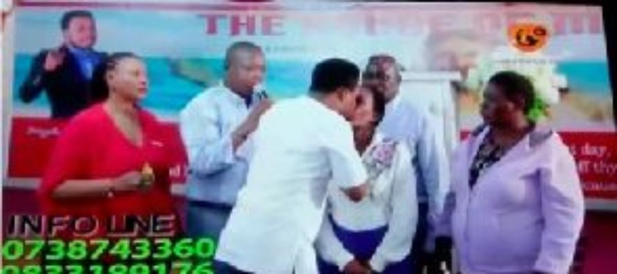 Video: Pastor kisses female congregant in the name of miracles