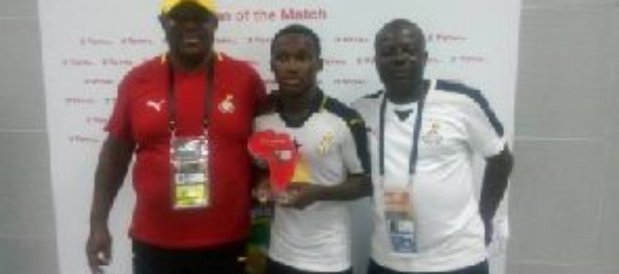 Black Starlets Emmanuel Toku wins player of the match award in Niger victory