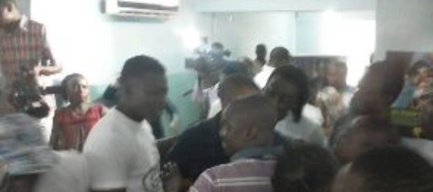 Two NDC groups clash over Mahama at Press Center