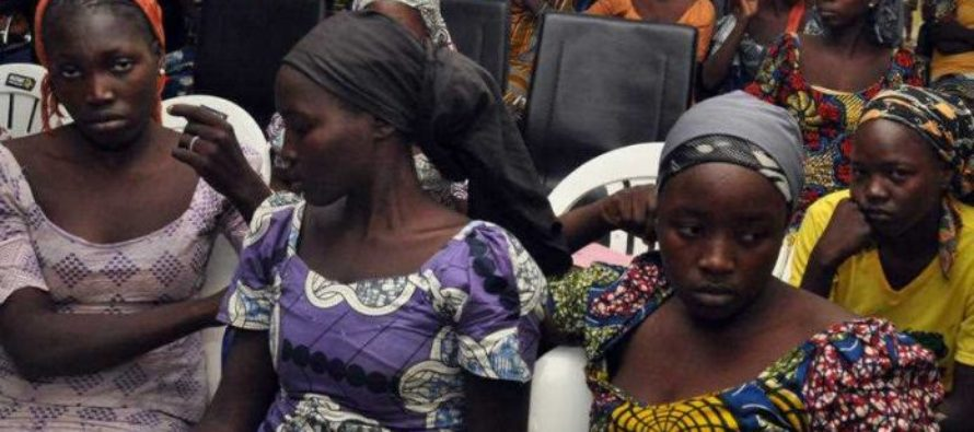 Nigeria's first lady meets freed Chibok girls
