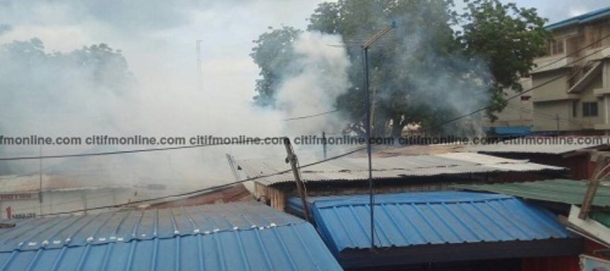 Fire ravages shops at Nkrumah Circle