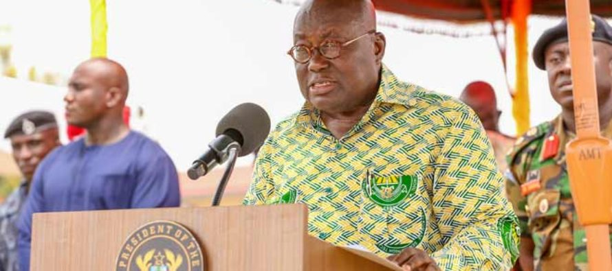 Akufo-Addo worships with Ho Fiave Global Evangelical Church