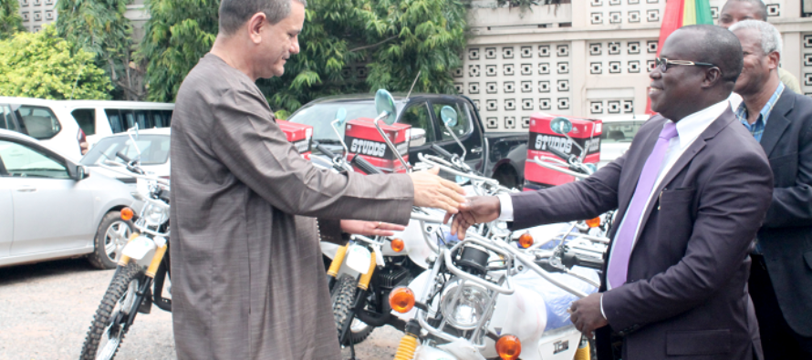 WAHO presents 10 motorbikes to Health Ministry