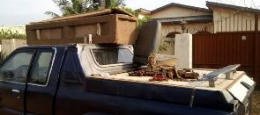 Coffins with remains found in Adenta