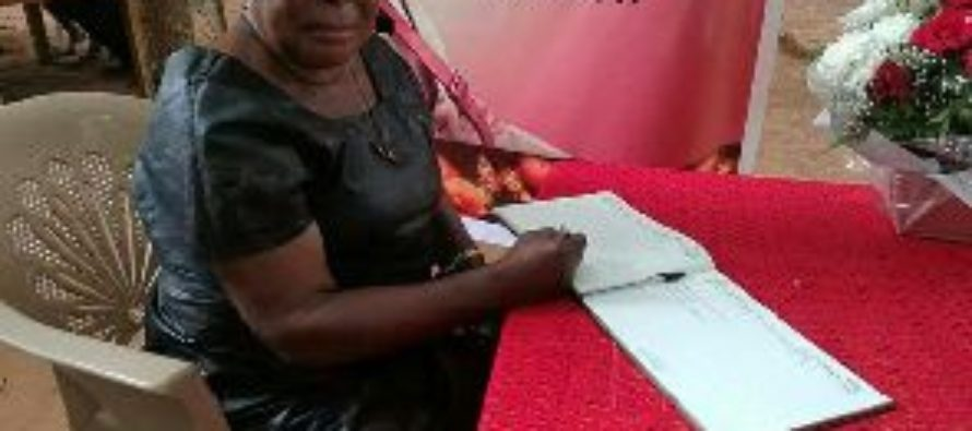 What Akua Donkor wrote in Major Mahama's book of condolence
