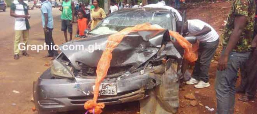 Abesim: Wedding errand vehicle involved in accident; taxi driver killed