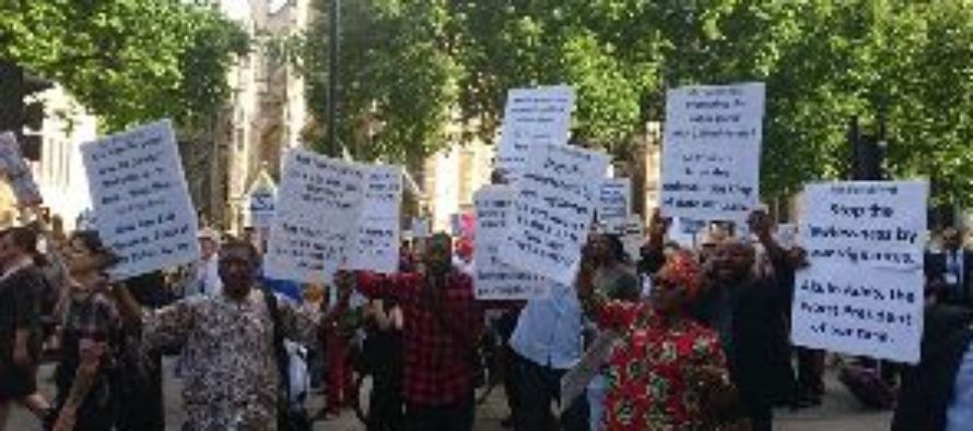 Ghanaians in UK demonstrate against Nana Addo (Pictures+Videos)