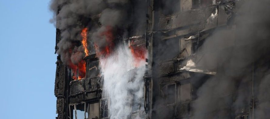 London Fire: baby thrown from 9th floor of Grenfell Tower inferno