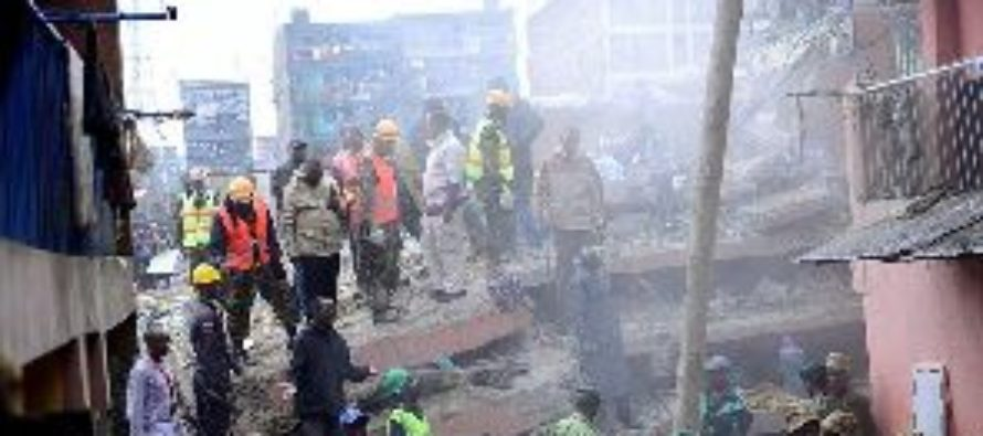 7-storey building collapses in Kenyan capital, 15 people missing