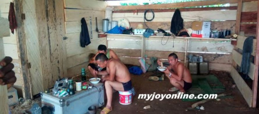Three Chinese arrested for 'galamsey'