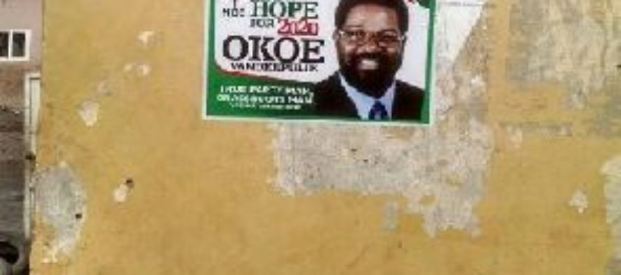 Okoe Vanderpuije's 2020 posters spotted in town