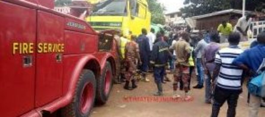 Police arrest driver of cement truck which killed two in Kumasi