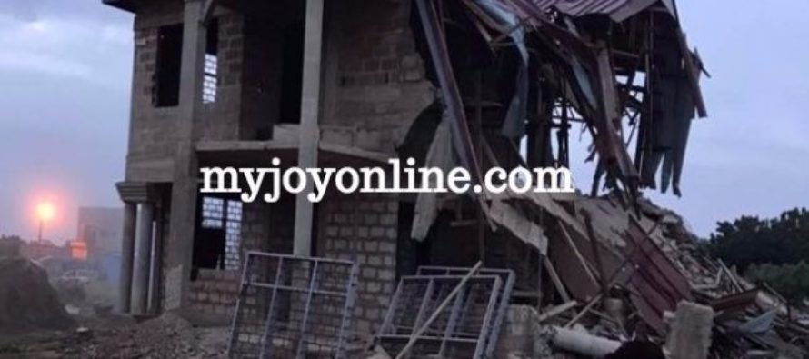NDC MP's 3-storey building bulldozed, suspects 'targeted attack'