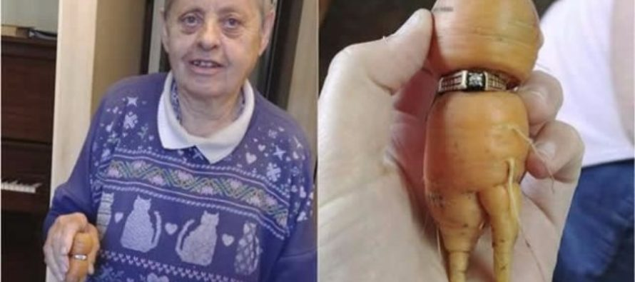Woman loses engagement ring on farm, finds it 13 years later, wrapped around carrot