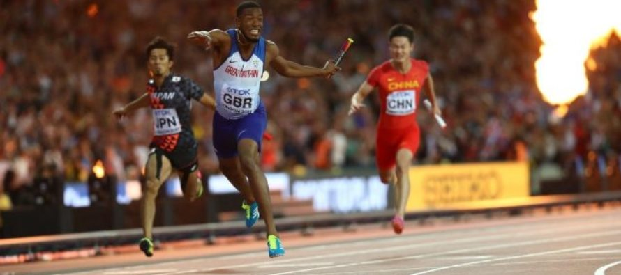 Great Britain win shock 4x100m gold as Bolt pulls up injured
