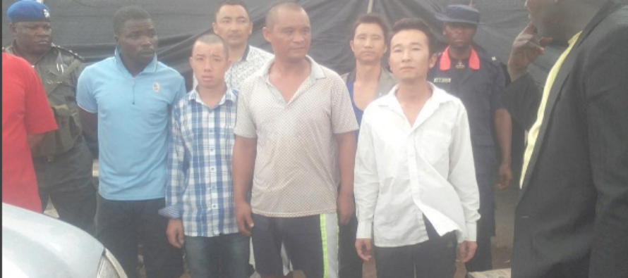 Eight Chinese arrested in Plateau for illegal mining