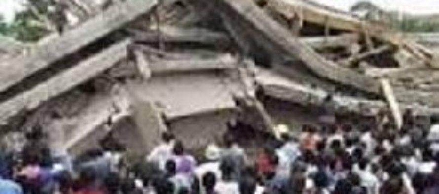 Three-storey building collapse at Asafo