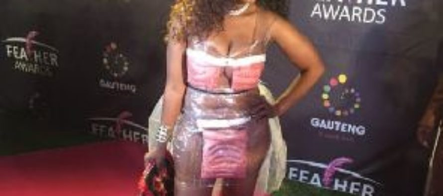 Hit or miss: South African singer wears sausage dress to an awards night