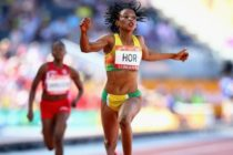 Ghana's Hor Halutie finishes eighth in women's 100m final