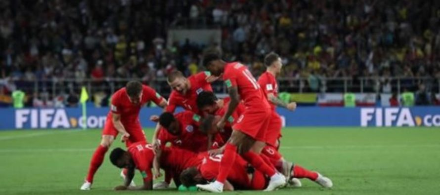 Three Lions break penalty jinx; send Colombia packing home