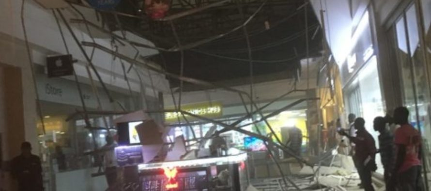 Video: One injured as Accra Mall roof falls