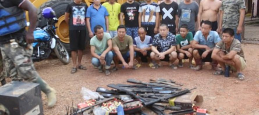 Big raid as 16 Chinese with fresh guns arrested over illegal mining