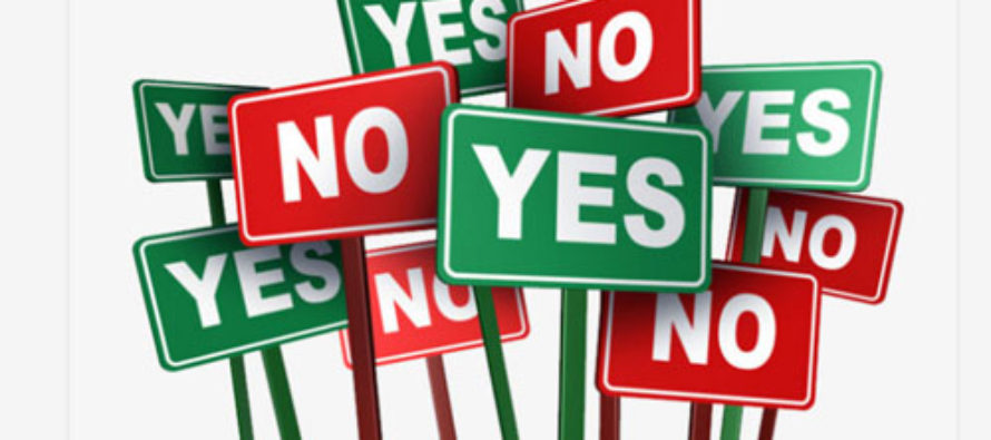 New regions referendum: Green for YES, red for NO