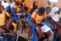 Oti: Bonakye Girls Model School Cries for Infrastructure as Pupils Write with Laps as Support
