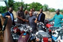 NALAG President presents 1037 motorbikes to Assembly members
