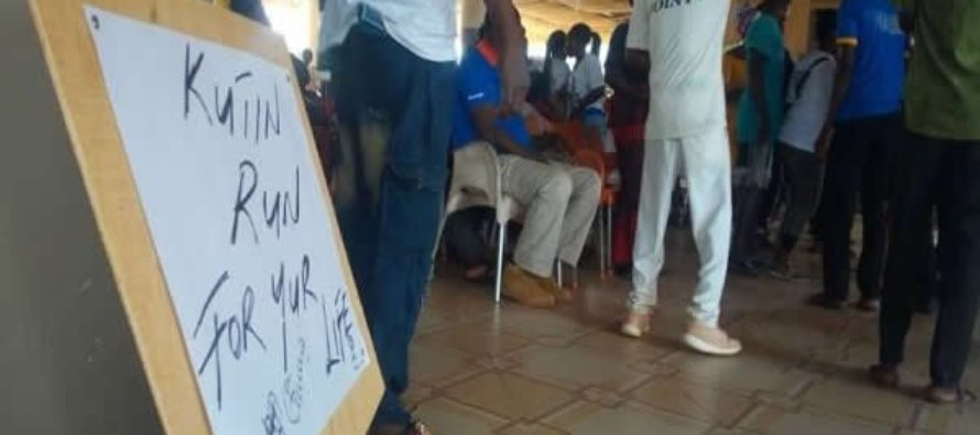 C/R: NPP constituency executives demonstrate against Chairman