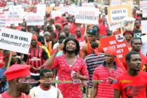 Live: Blood-red protesters meander through Accra with mixed frustrations