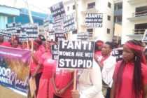 Scores of women protest at Badu Kobi's church over tribal remarks